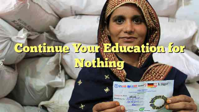 Continue Your Education for Nothing